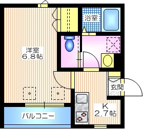 WHITE MAISON SATE4階Fの間取り画像