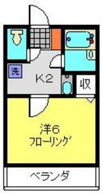 鶴見小野駅 徒歩19分1階Fの間取り画像