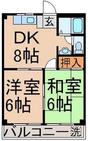 小作駅 徒歩16分3階Fの間取り画像