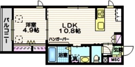 (仮称)川崎市幸区紺屋町メゾン22階Fの間取り画像