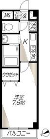 ベルメゾン大井1階Fの間取り画像