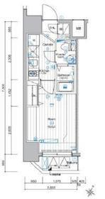 シーネクス横濱阪東橋8階Fの間取り画像