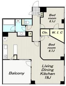 モンパルテ2階Fの間取り画像