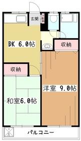 トキワマンション1階Fの間取り画像
