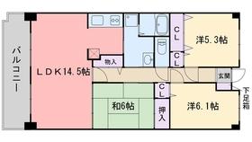 プレジール室見2階Fの間取り画像