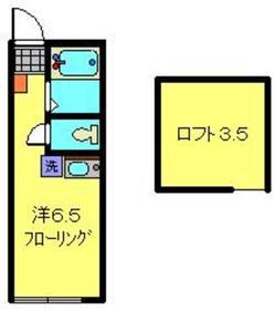 ヒルズ弘明寺2階Fの間取り画像