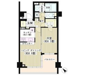 パークホームズ白金高輪アーバンレジデンス1階Fの間取り画像