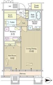 MOMENTO SHIODOME15階Fの間取り画像