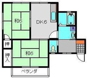 ヒバリハイツ2階Fの間取り画像