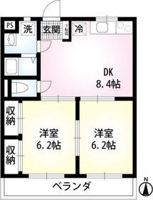 ガーデンハウス02階Fの間取り画像