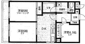 屏風浦駅 徒歩22分2階Fの間取り画像