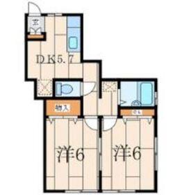 マーシュパディ1階Fの間取り画像