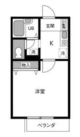メゾンヤスマ2階Fの間取り画像
