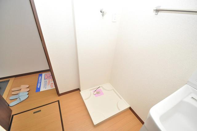 ベルリード加美北A棟 室内に洗濯機置き場があれば雨の日でも安心ですね。