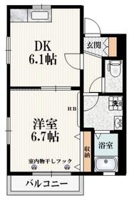 メゾン フルール2階Fの間取り画像