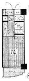 武蔵小杉駅 徒歩15分7階Fの間取り画像