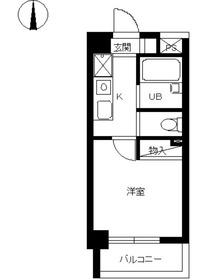 スカイコート神楽坂第24階Fの間取り画像