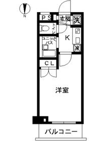 スカイコート東京ベイ東雲3階Fの間取り画像