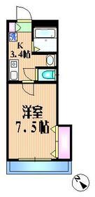 メゾンリョウ1階Fの間取り画像