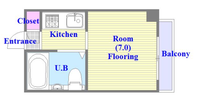 東大阪市小若江3丁目の賃貸マンション 学生さん・初めての1人暮らしにピッタリのコンパクトな間取です。