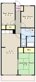 カームタウン相模が丘2階Fの間取り画像