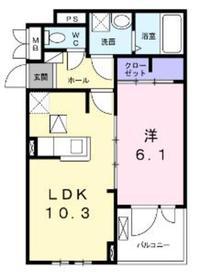 エアリーガーデンⅡ2階Fの間取り画像