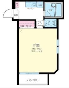 SH弘明寺1階Fの間取り画像