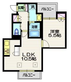プリマヴェーラ ヴェント2階Fの間取り画像