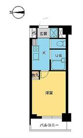 東新宿駅 徒歩6分5階Fの間取り画像
