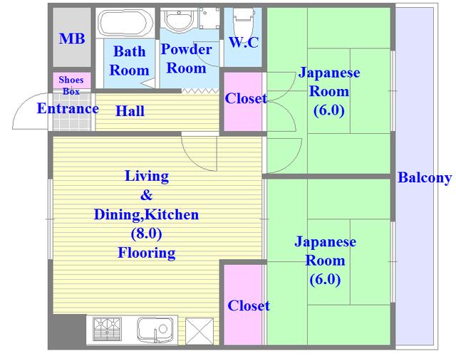 七福興産ビル 和室のあるゆったりした間取です。一度ご覧ください。