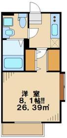 アルス2階Fの間取り画像