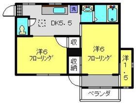 レジデンスヒグチ1階Fの間取り画像