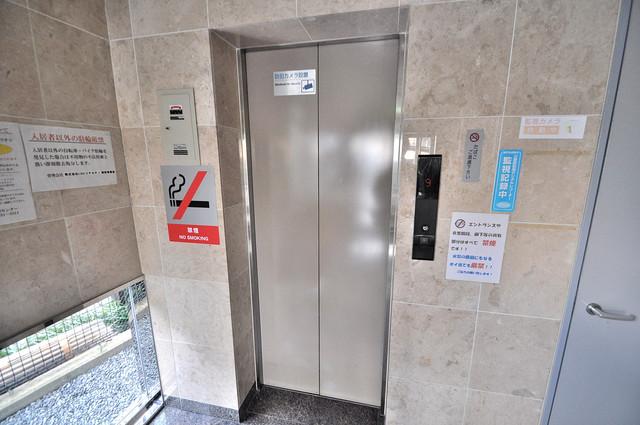 シャトル新深江 嬉しい事にエレベーターがあります。重い荷物を持っていても安心