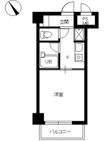 スカイコート新宿第81階Fの間取り画像