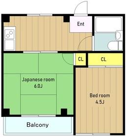 ラバー・ソウル1階Fの間取り画像