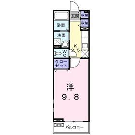 グローヴ アベニュー2階Fの間取り画像