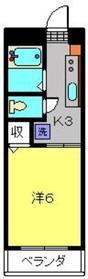 綱島駅 徒歩8分2階Fの間取り画像