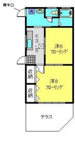 浅川アパート1階Fの間取り画像