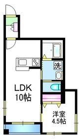 Amu ハイツ2階Fの間取り画像