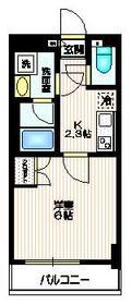 ナビウス西新宿2階Fの間取り画像