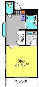 コロニースガノⅡ3階Fの間取り画像