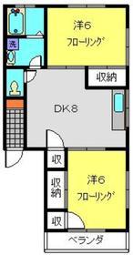 ライフモリ3号館1階Fの間取り画像