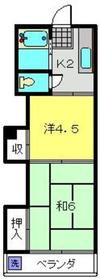 新川崎駅 徒歩17分2階Fの間取り画像