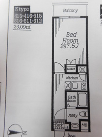ビバリーホームズ下赤塚3階Fの間取り画像