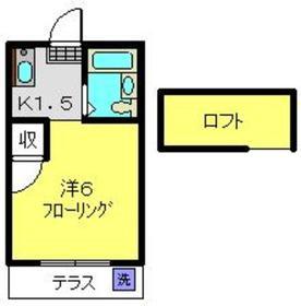 グレース日吉1階Fの間取り画像