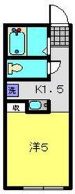 アルモ金沢文庫2階Fの間取り画像