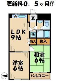 カーサ柊1階Fの間取り画像