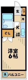 レジデンス小川4階Fの間取り画像