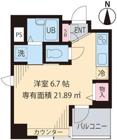メゾンド ソレイユ4階Fの間取り画像