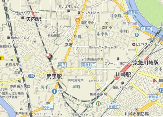 尻手駅 徒歩3分案内図